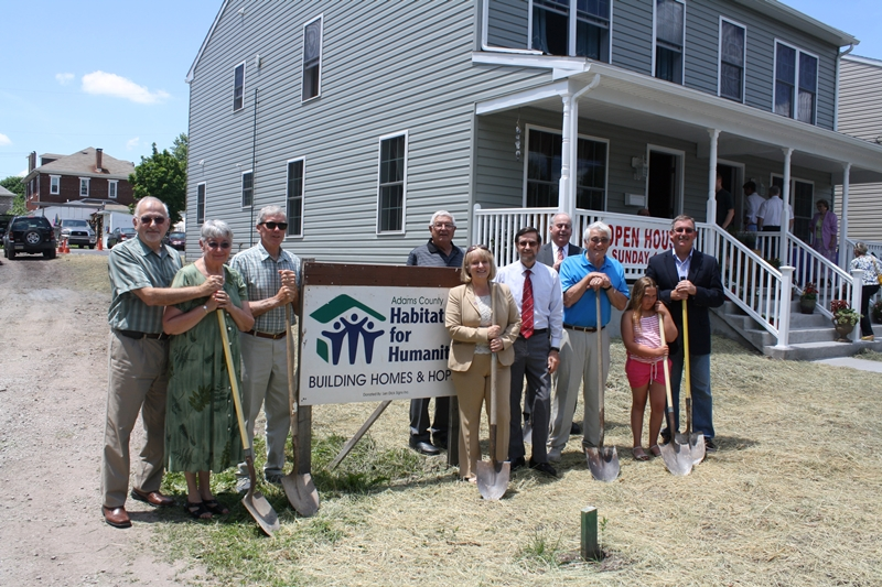 Adams County Habitat for Humanity Board Members Recently Broke Ground at 72 Fifth Street, Gettysburg