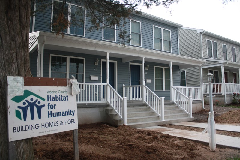 Open House: The public is invited to come tour Adams County Habitat for Humanity's latest completed duplex, 70-72 North Fifth Street, Gettysburg, on Sunday, June 14 from 1-3.